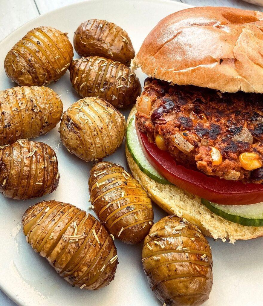 Student Budget Friendly Bean And Oat Burger Virtually Vegan